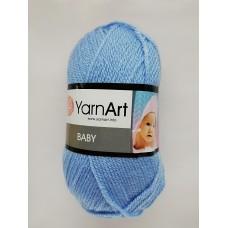 Пряжа классическая детская Baby YarnArt, цвет голубой, артикул 215